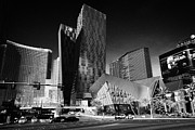 Aria Framed Prints - citycenter development including the aria veer towers and cosmopolitan Las Vegas Nevada USA Framed Print by Joe Fox