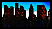 Business-travel Mixed Media Prints - Cityscape Print by Todd and candice Dailey