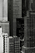 Cityscape In Black And White Print by Diane Diederich