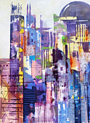 Municipal Painting Prints - Cityscape Print by Katie Black