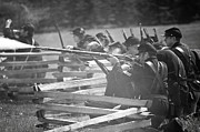 Reloading Framed Prints - Cival War Reenactment of 1863 Framed Print by Nick  Boren