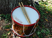 Drum Sticks Prints - Civil War Drum Print by Kathy Barney