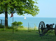 Gregory House Art - Civil War Gun at Lake Erie by Kathy Barney