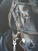 """texas Artist"" Originals - Civil War Horse by David Ackerson"