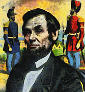 Abraham Lincoln Prints - Civil War Lincoln  Print by Nishanth Gopinathan