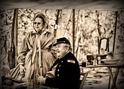 Springfield Framed Prints - Civil War Officer and Wife Framed Print by Paul Ward