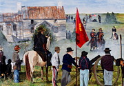 Civil Paintings - Civil War Re-enactment by Kimberly Shinn