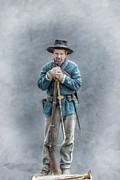 Battle Of Gettysburg Digital Art - Civil War Soldier Co. F 78th PVI by Randy Steele
