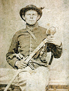 Tintype Prints - Civil War Soldier Portrait Print by Gary Whitton