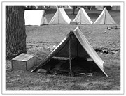 Civil War Re-enactment Framed Prints - Civil War Tents 2 Framed Print by Sara  Raber