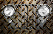 Headlight Prints - Civilian Jeep- Steel Gray Print by Luke Moore
