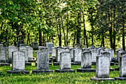 Headstones Prints - Civitl War Warrior Graves Print by Linda Phelps