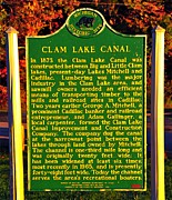 Loggers Framed Prints - Clam Lake Canal Historic Marker Framed Print by Terri Gostola