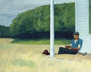 Veranda Paintings - Clamdigger by Edward Hopper