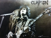 Rock Art Framed Prints - Clapton Framed Print by Christian Chapman Art