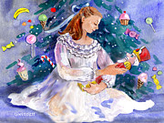 Candy Paintings - Clara and the Nutcracker by Kathleen  Gwinnett
