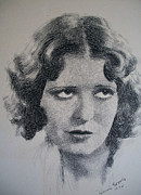 Icon  Drawings - Clara Bow by Henry Goode