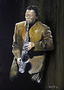 Portrait Prints - Clarence Clemons Print by William Walts