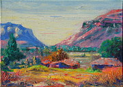 Clarence Painting Metal Prints - Clarence Mountain Free State South Africa Metal Print by Thomas Bertram POOLE