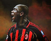 League Framed Prints - Clarence Seedorf Framed Print by Paul  Meijering