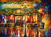 Clarens Misty Cafe Print by Leonid Afremov
