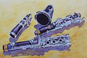 Classical Music Paintings - Clarinet Candy by Jenny Armitage