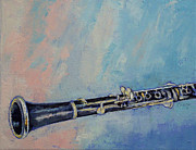 Lhuile Posters - Clarinet Poster by Michael Creese