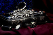 Case Framed Prints - Clarinet Still Life Framed Print by Tom Mc Nemar
