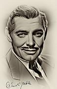 Clark Gable Print by Andrzej Szczerski