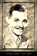 Award Drawings Prints - Clark Gable Print by George Rossidis