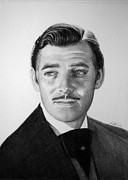 Award Drawings Framed Prints - Clark Gable Framed Print by Loredana Buford