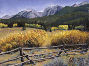 Fence Pastels - Clark Peak by Mary Giacomini