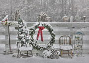 Snowflake Digital Art Posters - Clarks Valley Christmas 3 Poster by Lori Deiter