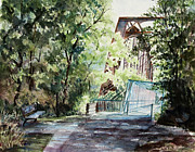 Tennessee Prints Paintings - Clarksville Greenway by Janet Felts