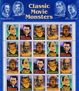 Monsters Mixed Media - Clasic Movie Monsters by Todd and candice Dailey