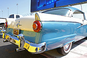 Ford Customline Posters - Classic 1956 Ford Automobile Poster by Kevin McCarthy