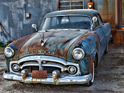 White Walls Metal Prints - Classic 1956 Packard-automobile Metal Print by Tom Druin