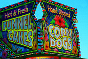 Corn Dogs Framed Prints - Classic American Carnival Cuisine Framed Print by Mike Flynn