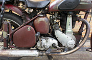 Bsa Photos - Classic BSA motorcycle by Richard Coombs