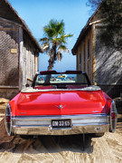 St.tropez Photo Prints - Classic Cadillac in St Tropez  Print by Mountain Dreams