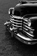 Classic Cadillac Sedan Black And White Print by Edward Fielding