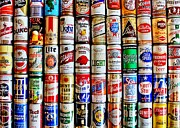 Bar Art Prints - Classic Cans Print by Benjamin Yeager