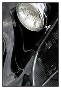Metal Sheet Framed Prints - Classic Car Black - 07.13.07_134 Framed Print by Paul Hasara
