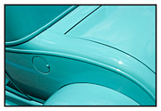 Metal Sheet Framed Prints - Classic car Blue - 07.13.07_204 Framed Print by Paul Hasara