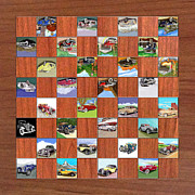 Jack Pumphrey - Classic Car Chess or Checker game board