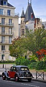 France Photo Originals - Classic car in a classic city by Matt MacMillan