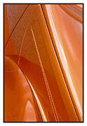 Metal Sheet Framed Prints - Classic Car Orange - 07.13.07_388 Framed Print by Paul Hasara