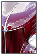 Metal Sheet Framed Prints - Classic Car Red - 07.13.07_577 Framed Print by Paul Hasara