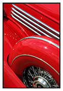 Metal Sheet Framed Prints - Classic Car Red - 07.13.17_296 Framed Print by Paul Hasara