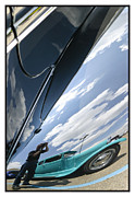Metal Sheet Framed Prints - Classic Car Reflection - 07.13.07_211 Framed Print by Paul Hasara